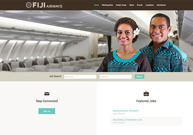 Fiji Airways Careers | StaffCV CWS